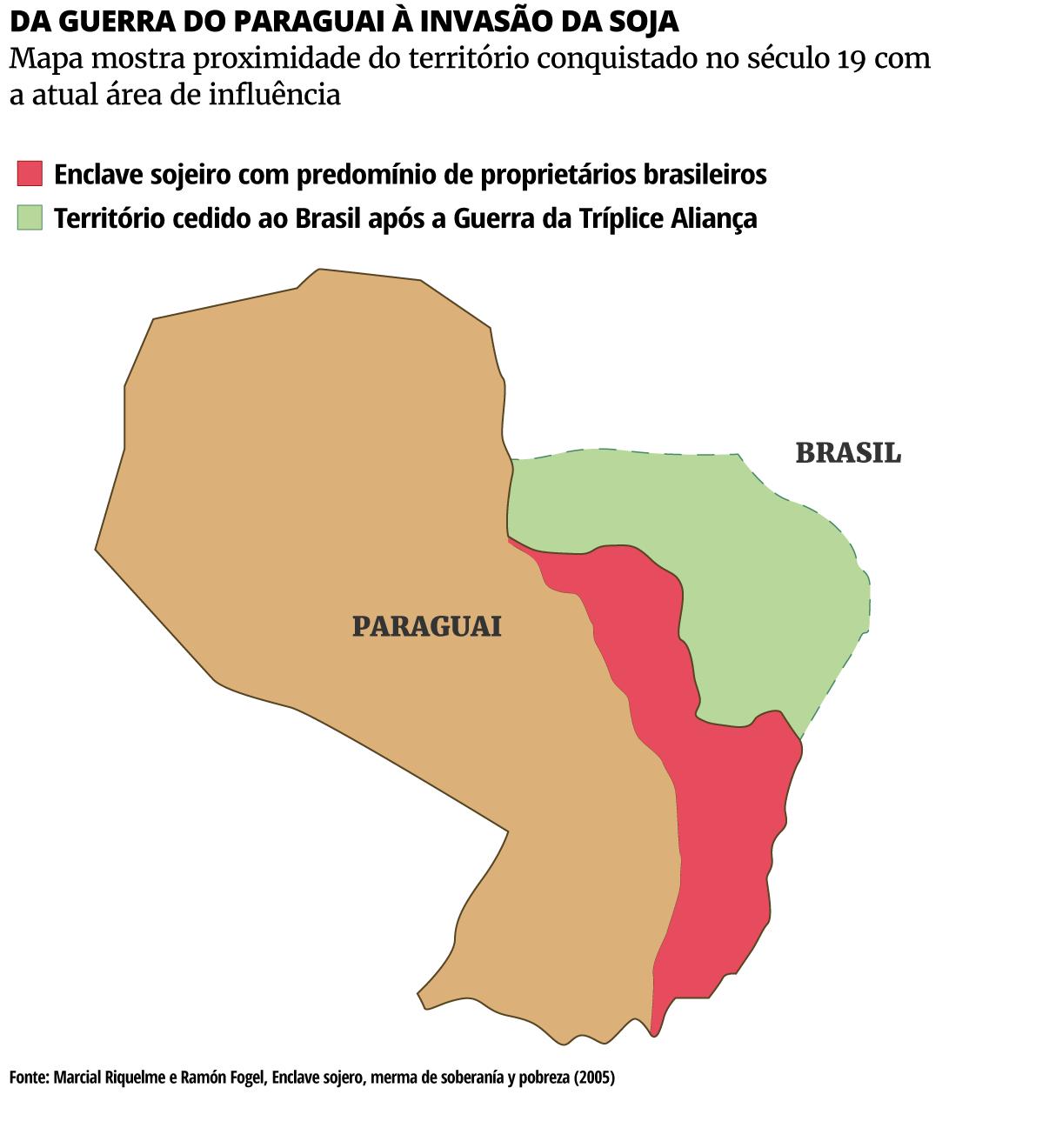 Veja de que países são as grandes corporações que mais adquirem propriedades no Paraguai