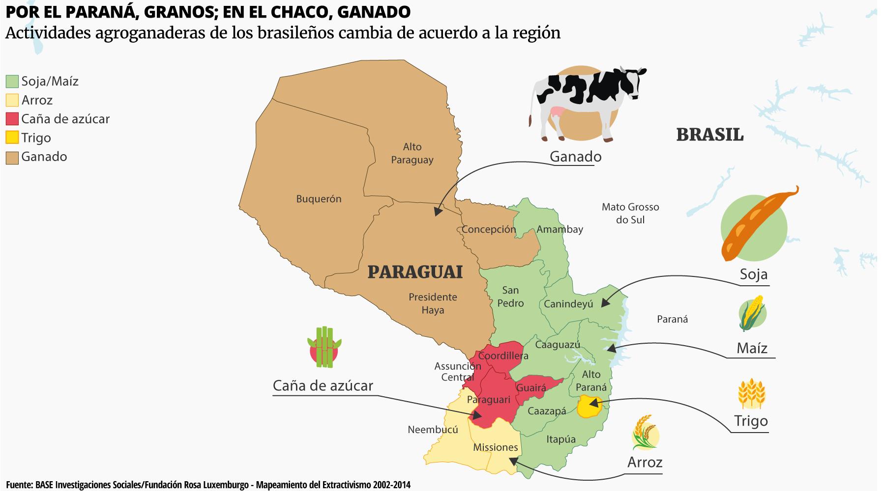 Actividades agroganaderas de los brasileños cambia de acuerdo a la región