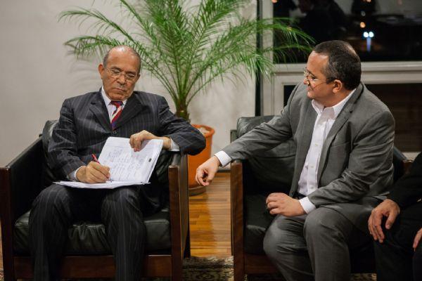 Ministro da Casa Civil Eliseu Padilha e o governador do MT Pedro Taques / Foto: Olhar Jurídico