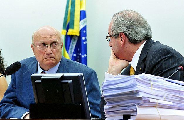 Osmar Serraglio e Eduardo Cunha na sessão da CCJ / Foto Jornal do Brasil