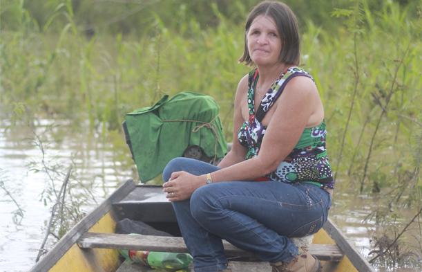 Nilce, que denunciava violações contra ribeirinhos na construção da usina de Jirau, em Porto Velho, foi assassinada em janeiro do ano passado. Foto:MAB/ Divulgação