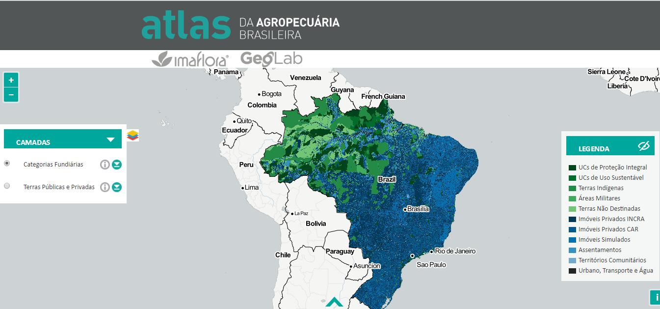 Plataforma on-line revela a malha fundiária do Brasil