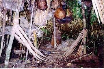 Os Kawahiva constroem acampamentos temporários antes de mudar para outro lugar para escapar de invasores.