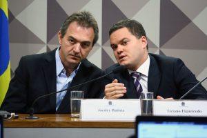 Joesley Batista (esq.) durante CPI no Congresso, em 2017. (Foto: Cleia Viana/Agência Câmara)