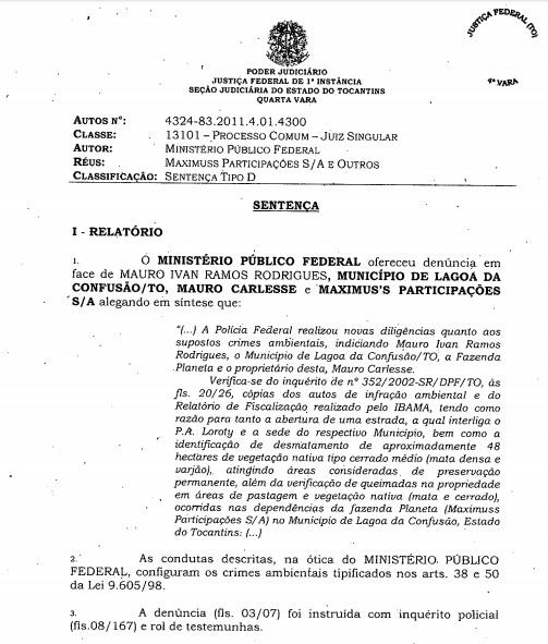 Carlesse (DEM-TO) é único governador com mandato na lista de multados por desmatamento do Ibama